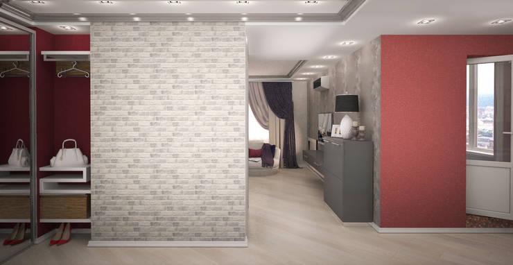 Квартира-студия для молодой девушки: Коридор и прихожая в . Автор – Гурьянова Наталья