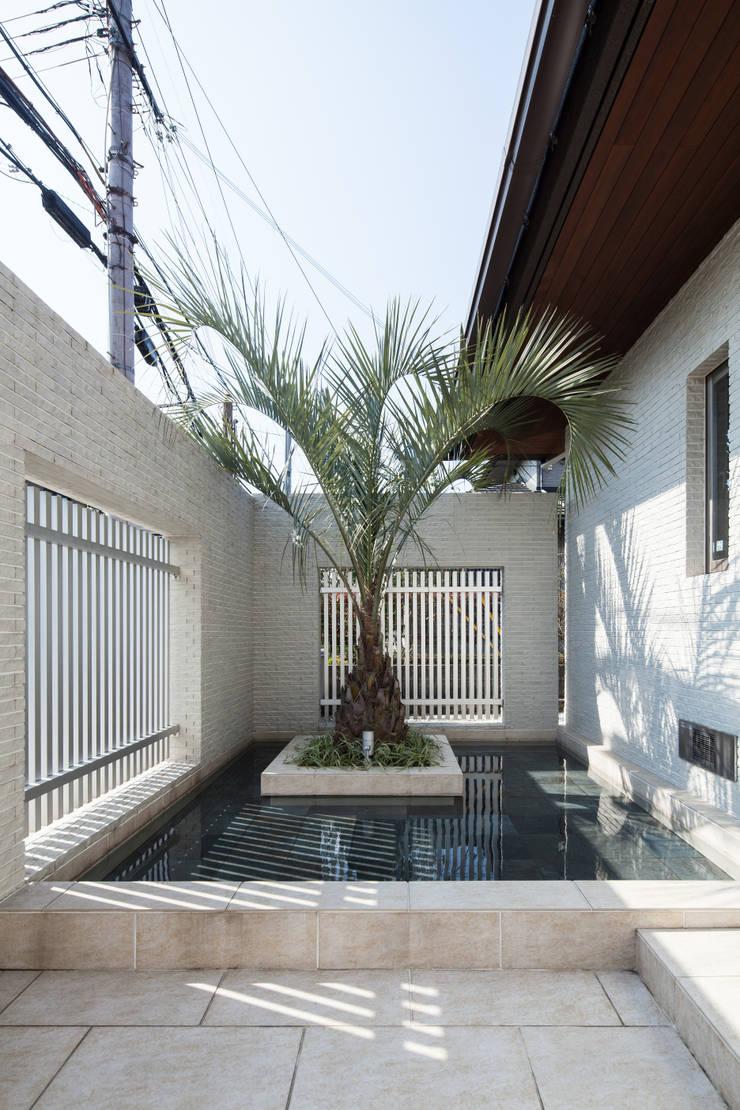青山の家: Abax Architectsが手掛けた池です。,モダン