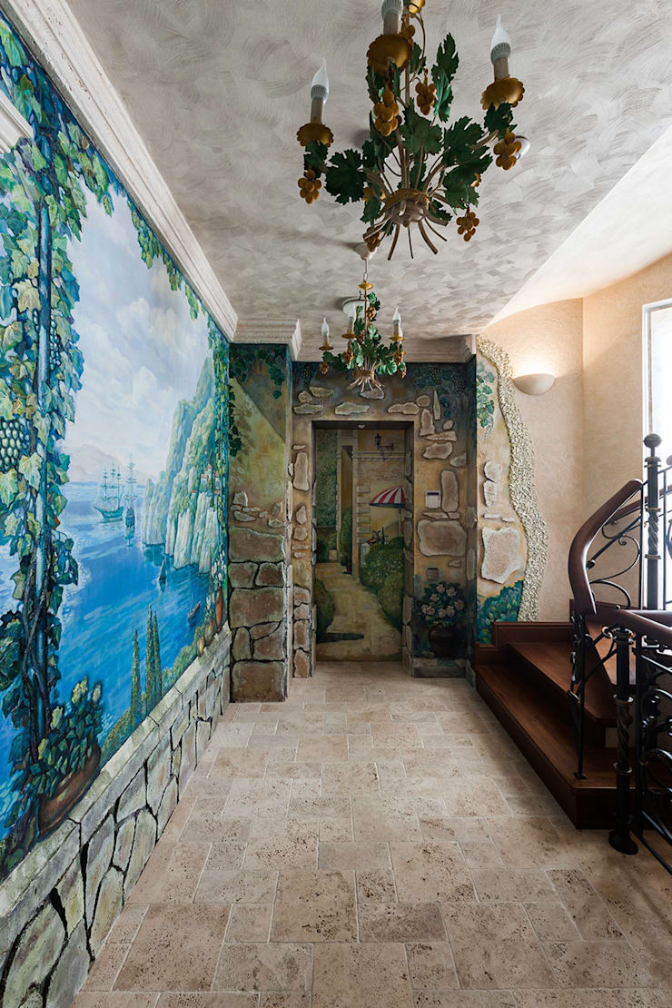 Проходной холл в бассейн: Коридор и прихожая в . Автор – Интерьеры от Марии Абрамовой