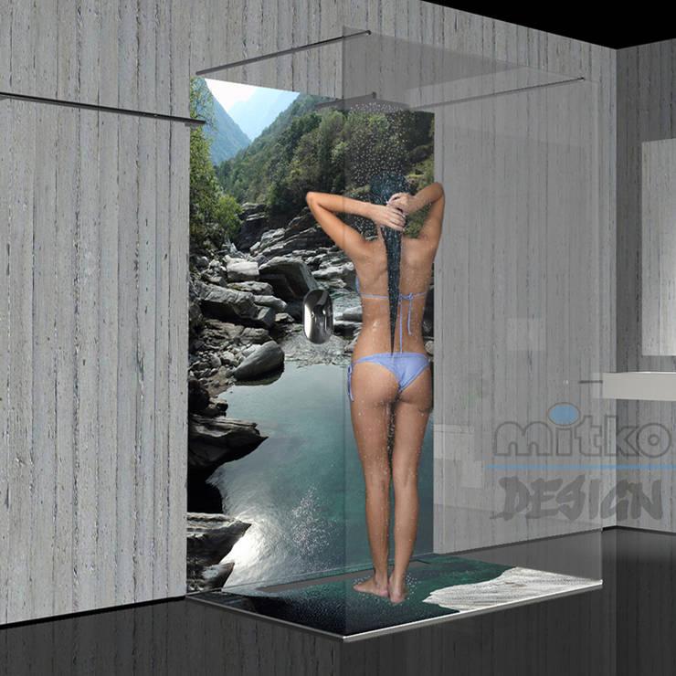 Duschen Sie in Versasca Tal...: moderne Badezimmer von Mitko Design