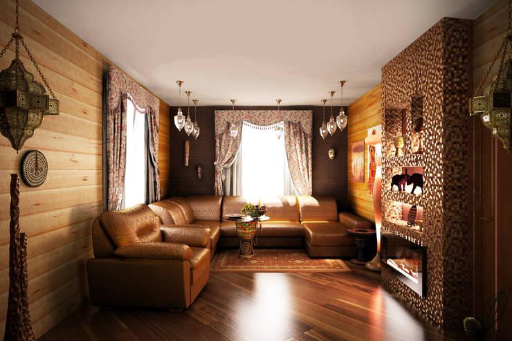Гостиная в восточном стиле: Гостиная в . Автор – Гурьянова Наталья