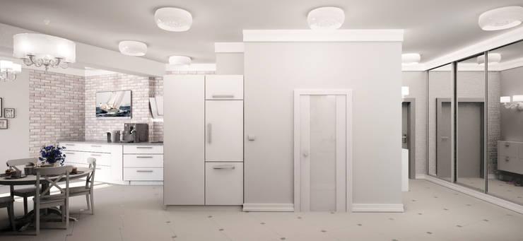 Уютная классика с нотками прованса: Столовые комнаты в . Автор – Гурьянова Наталья, Средиземноморский