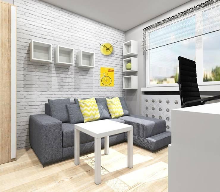 Pokój nastolatka w Dąbrowie Górniczej : styl , w kategorii Pokój dziecięcy zaprojektowany przez Architekt wnętrz Klaudia Pniak