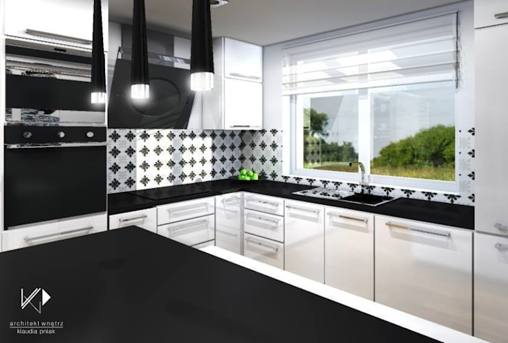 Dom w Dąbrowie Górniczej : styl , w kategorii Kuchnia zaprojektowany przez Architekt wnętrz Klaudia Pniak