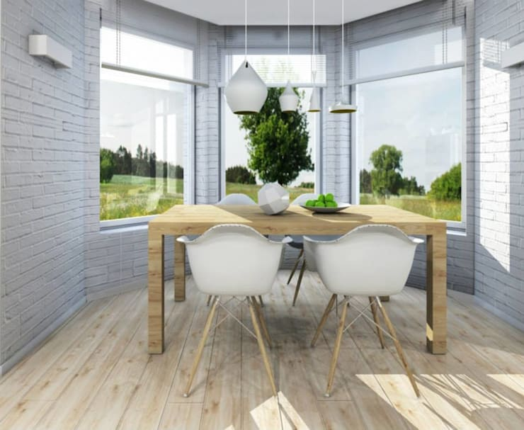 Dom w Dąbrowie Górniczej : styl , w kategorii Jadalnia zaprojektowany przez Architekt wnętrz Klaudia Pniak
