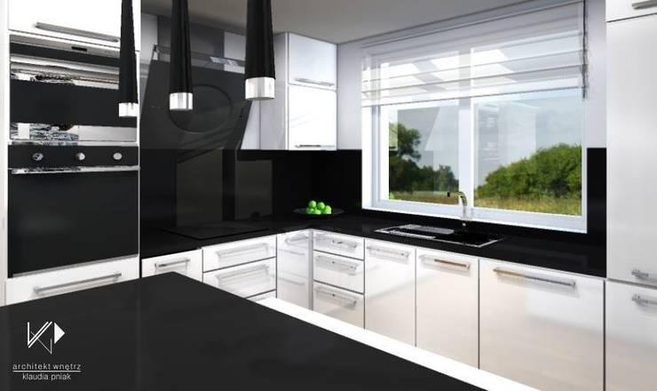 Dom w Dąbrowie Górniczej : styl , w kategorii Kuchnia zaprojektowany przez Architekt wnętrz Klaudia Pniak,Nowoczesny