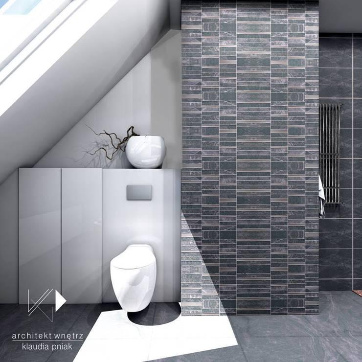 Łazienka rodzinna : styl , w kategorii Łazienka zaprojektowany przez Architekt wnętrz Klaudia Pniak