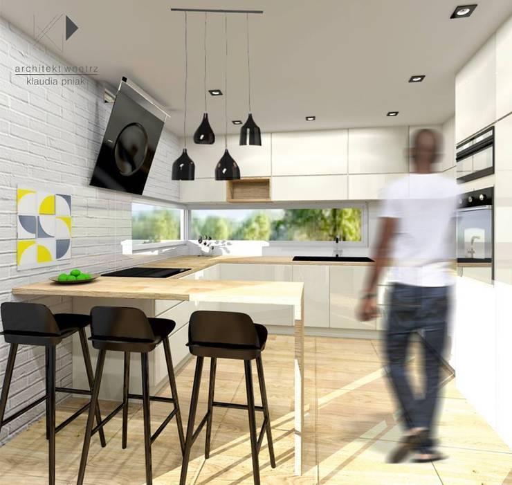 Dom w Krakowie : styl , w kategorii Kuchnia zaprojektowany przez Architekt wnętrz Klaudia Pniak