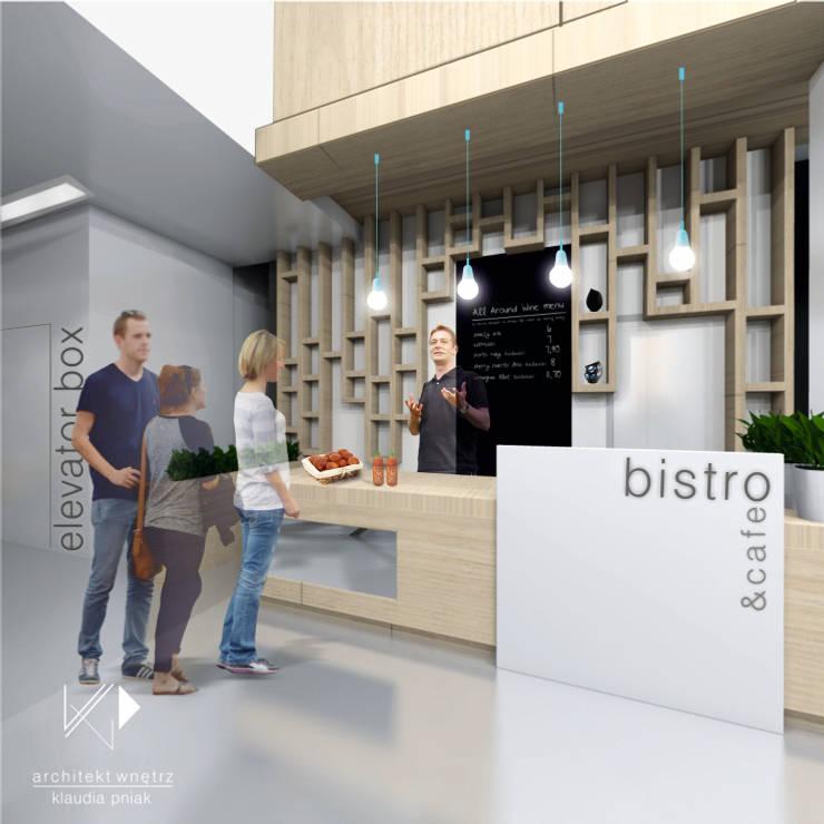 KWADRATY – Centrum edukacyjne & bistro cafe w Katowicach : styl , w kategorii Centra kongresowe zaprojektowany przez Architekt wnętrz Klaudia Pniak,Nowoczesny