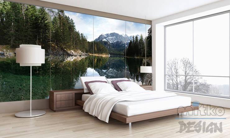 Schlafzimmer direkt am Eibsee?: moderne Schlafzimmer von Mitko Design