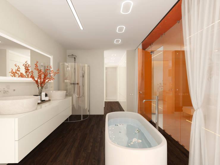 Квартира в ЖК <q>Воробьевы Горы</q>:  в . Автор – Архитектурное бюро Лены Гординой