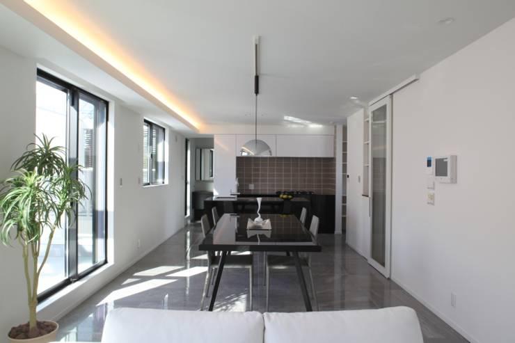 イタリア家具がフィットする、スタイリッシュなLDK: ナイトウタカシ建築設計事務所が手掛けたリビングです。