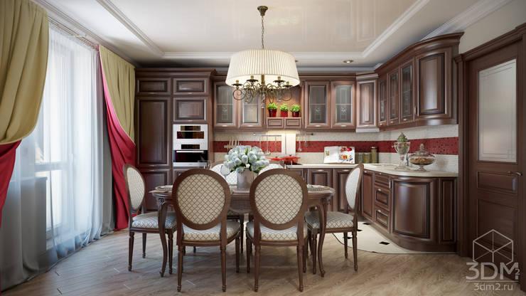 Проект 008: кинозал + кухня + игровая: Кухни в . Автор – студия визуализации и дизайна интерьера '3dm2',