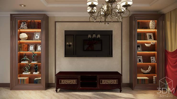 Проект 008: кинозал + кухня + игровая: Медиа комнаты в . Автор – студия визуализации и дизайна интерьера '3dm2',