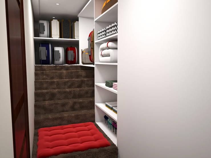 Projeto de Interiores Alphaville Graciosa: Quartos  por Daarna Arquitetura & Interiores