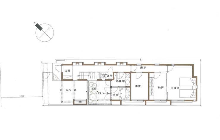 1F PLAN: 豊田空間デザイン室 一級建築士事務所が手掛けたです。,