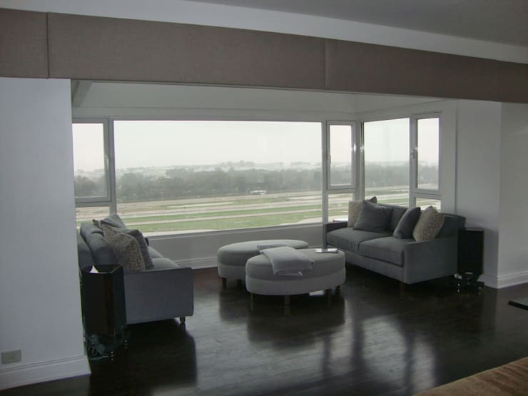 Libertador 2012: Livings de estilo  por Hargain Oneto Arquitectas