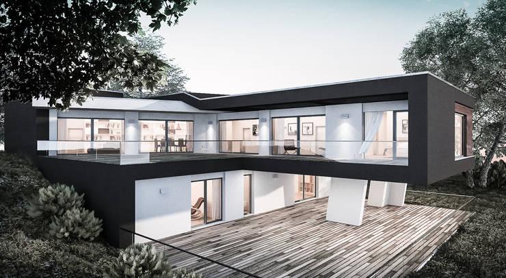 PRIVATE HOME IN PERUGIA - 2012|+312.50: Case in stile  di Cacciamani Diego Architetto
