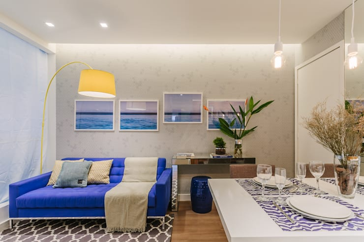 Apartamento Bela Vista: Salas de estar  por STUDIO LN