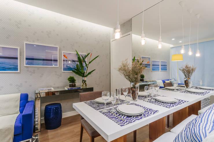 Apartamento Bela Vista: Salas de jantar modernas por STUDIO LN