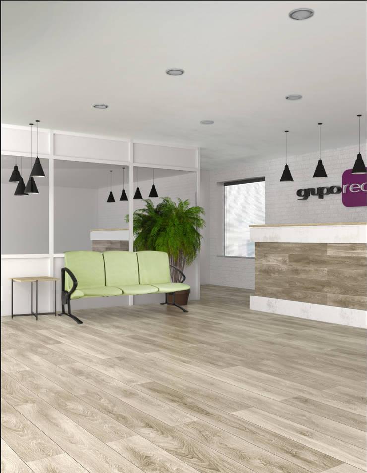 RC-1043/C Confortable 3 plazas.: Oficinas y tiendas de estilo  por Grupo Requiez, SA de CV
