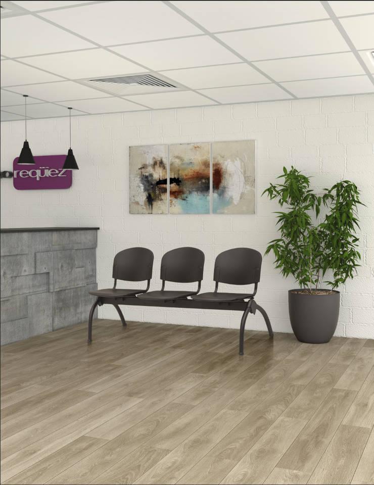 RE-1073 - Línea bancas y confortables: Oficinas y tiendas de estilo  por Grupo Requiez, SA de CV