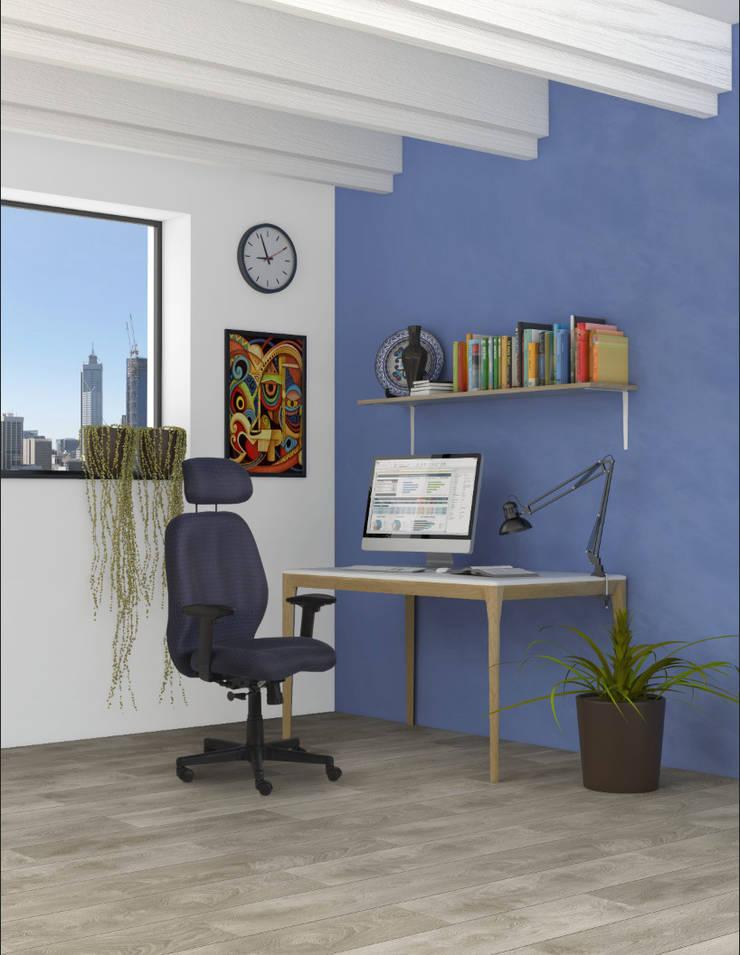 RE-1200 Sillón Gerencial con cabecera.: Oficinas y tiendas de estilo  por Grupo Requiez, SA de CV