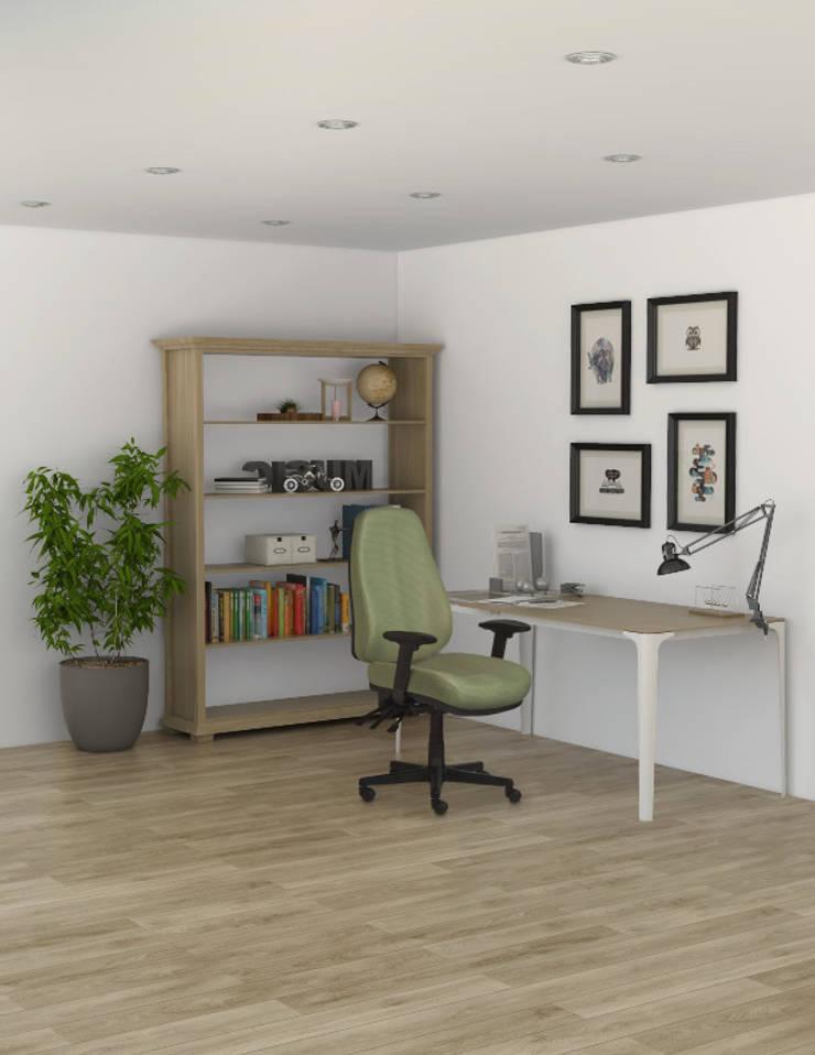 RE-1300 Sillón Ejecutivo de Trabajo Ajustable Respaldo Alto: Oficinas y tiendas de estilo  por Grupo Requiez, SA de CV