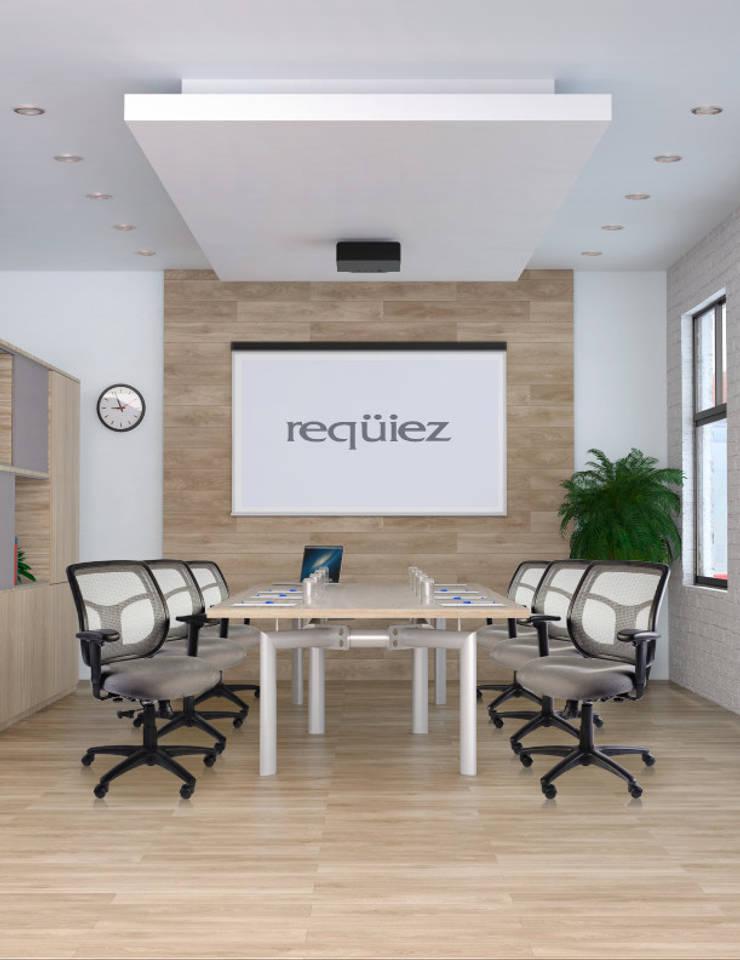 RE-1500 Sillón semi ejecutivo respaldo bajo.: Oficinas y tiendas de estilo  por Grupo Requiez, SA de CV