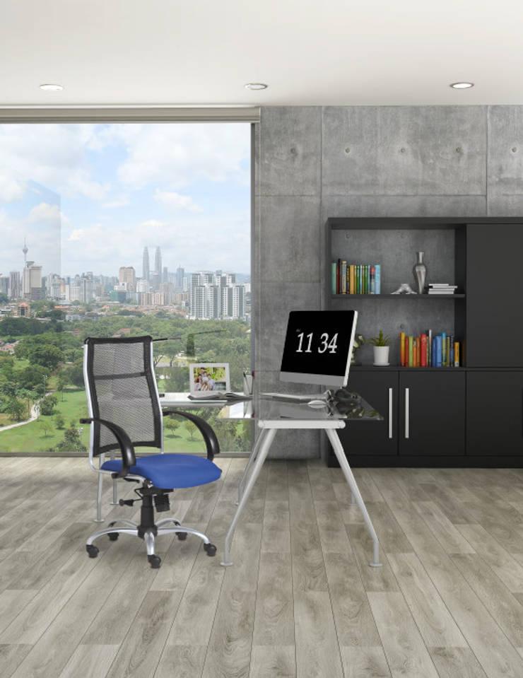 RE-1700 Sillón ejecutivo en malla. Respaldo alto: Oficinas y tiendas de estilo  por Grupo Requiez, SA de CV