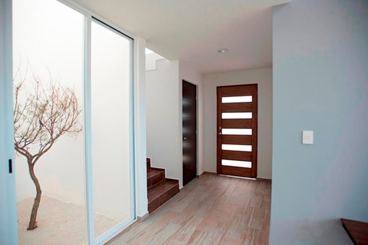 Acceso principal: Puertas y ventanas de estilo  por JF ARQUITECTOS