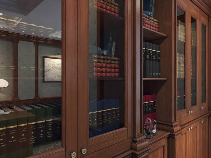 klasieke Studeerkamer/kantoor door Оксана Мухина