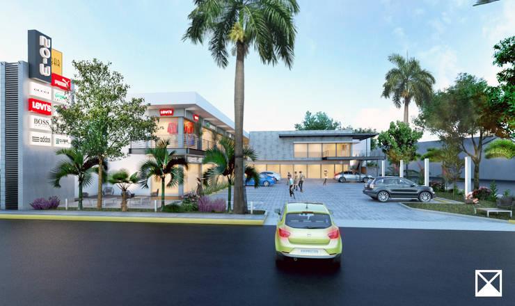 Hiên, sân thượng phong cách hiện đại bởi ANGOLO-grado arquitectónico Hiện đại