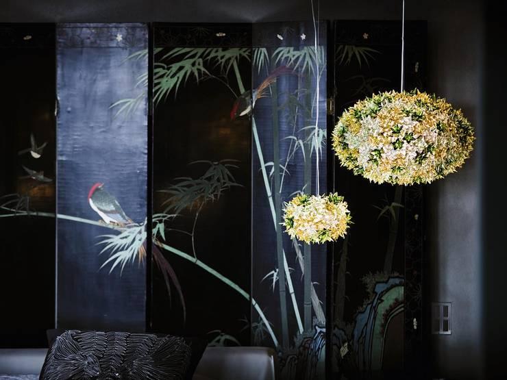 Bloom: Salas de estilo  por GEO Iluminación Aplicada
