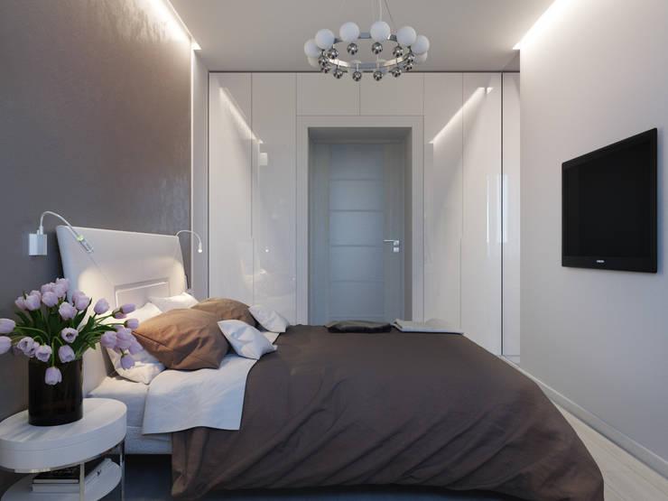 Квартира для современной пары: Спальни в . Автор – Оксана Мухина