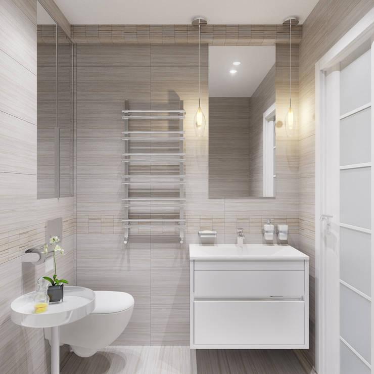 Casas de banho minimalistas por Оксана Мухина