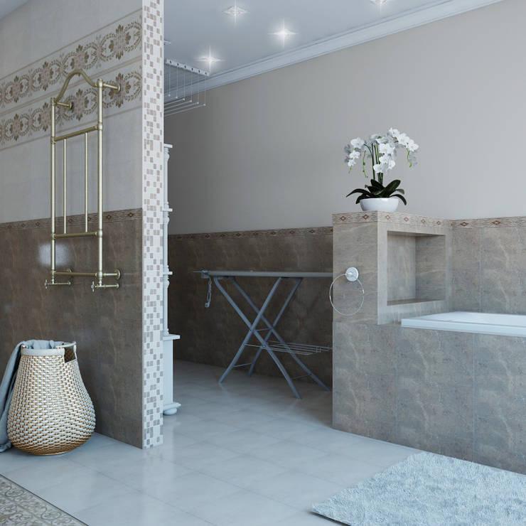 Коттедж в г.Невьянске: Ванные комнаты в . Автор – Частный дизайнер и декоратор Девятайкина Софья
