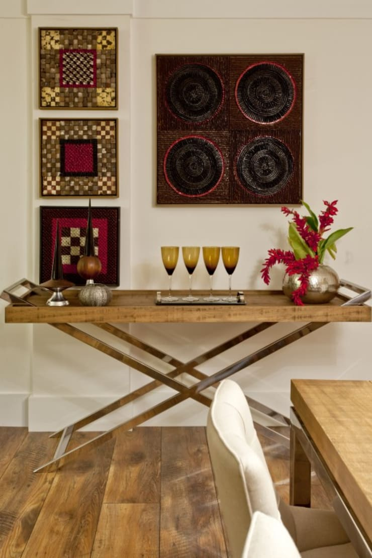 Apoio Jantar: Salas de estar rústicas por CR Arquitetura