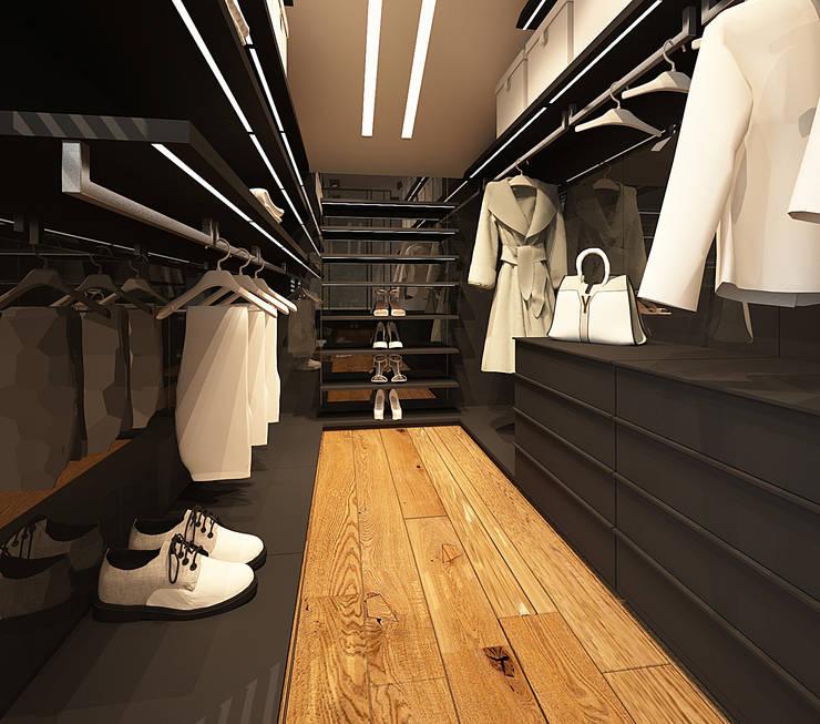 Otwarta garderoby typu walk-in: styl , w kategorii Garderoba zaprojektowany przez FAMM DESIGN