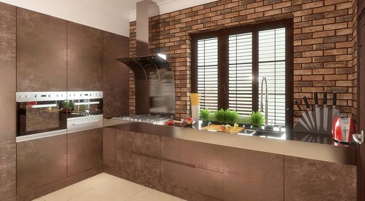 RETRO INDUSTIAL: styl , w kategorii Kuchnia zaprojektowany przez FAMM DESIGN
