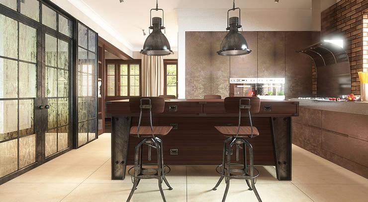 Cucina in stile in stile Industriale di FAMM DESIGN