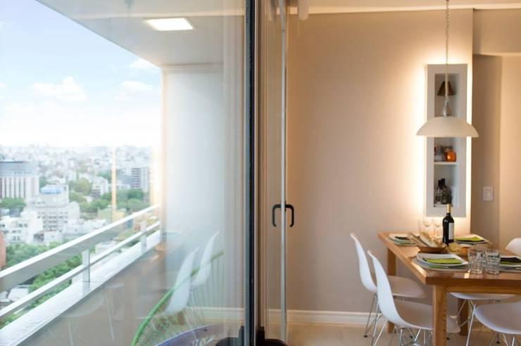 Living comedor:  de estilo  por MINBAI,Moderno Madera Acabado en madera