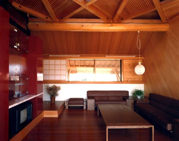 つくばの家: 有限会社加々美明建築設計室が手掛けたリビングです。