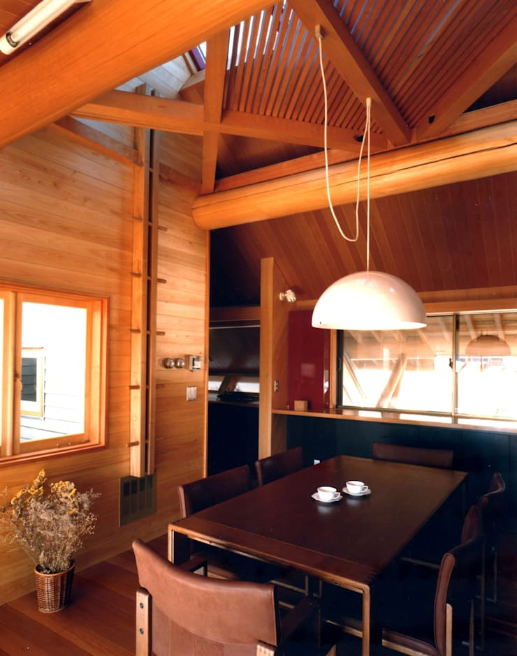 つくばの家: 有限会社加々美明建築設計室が手掛けたダイニングです。