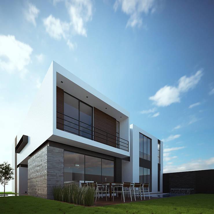 Fachada Posterior Lateral: Casas de estilo  por RTstudio
