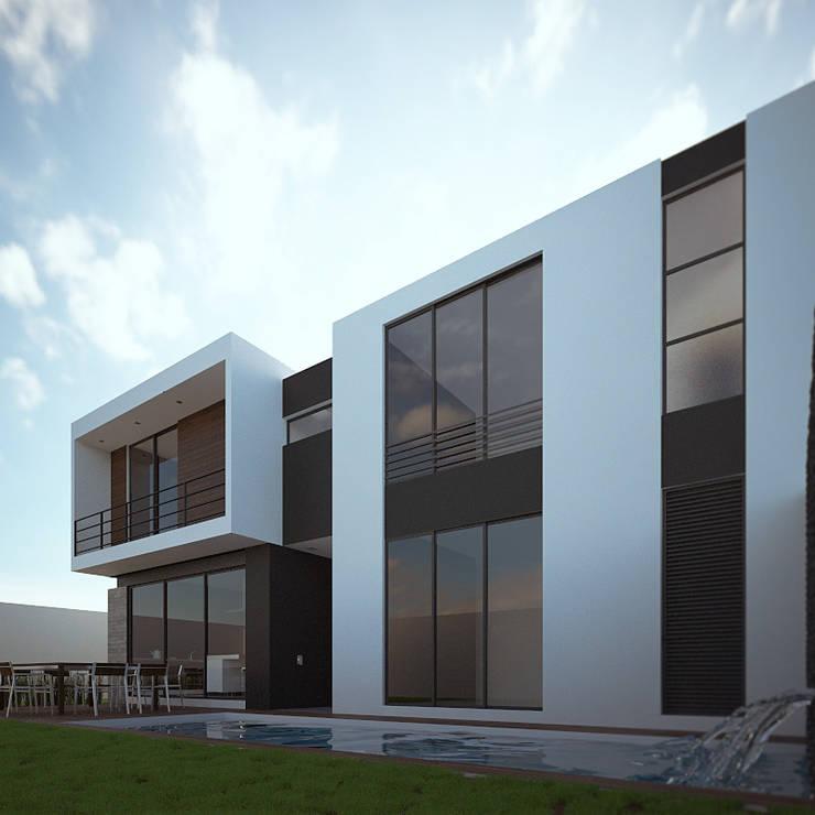Fachada Posterior: Casas de estilo  por RTstudio