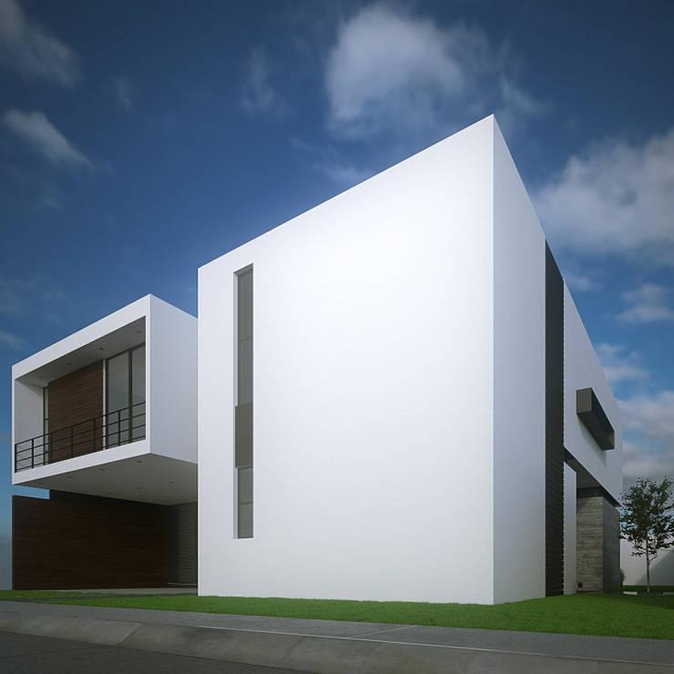 Fachada Principal Lateral: Casas de estilo  por RTstudio