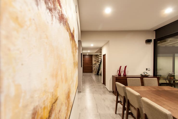 CASA PAULIN: Pasillos y recibidores de estilo  por Cambio De Plano