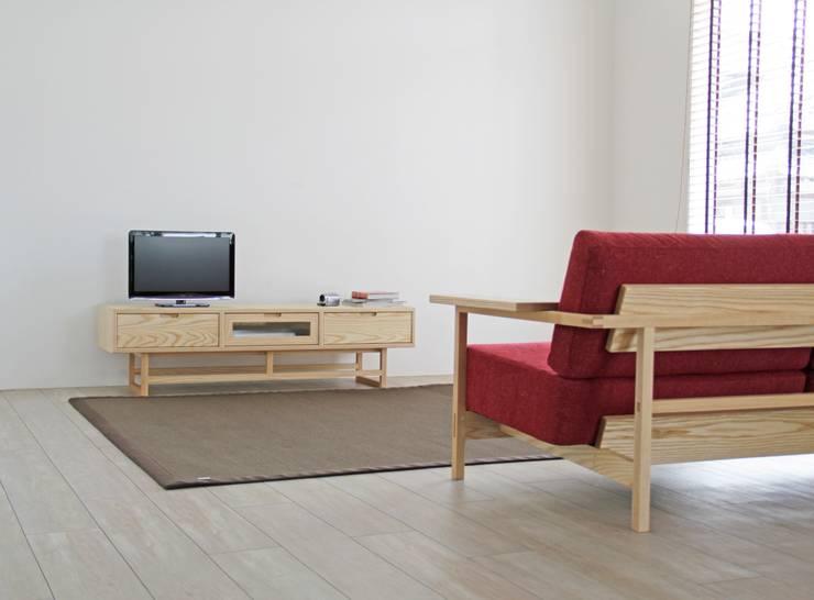 Livings de estilo moderno por ムラサワデザイン MURASAWADESIGN