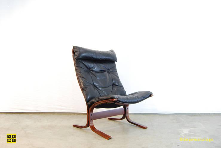 Siësta easy chair by Ingmar Relling / Westnofa / Norwegian / 70's:  Woonkamer door De gele etalage